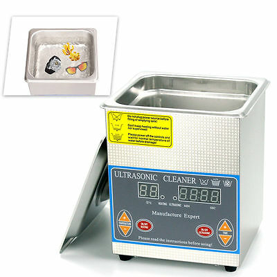 2L Stainless Steel Heated Ultrasonic Cleaner Cleaning Heater with Timer Top