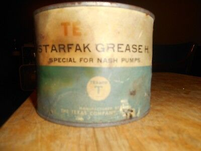 Vintage Texaco Starfak Grease H, Special for Nash Pumps Can