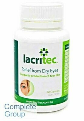 Lacritec 60 X 3 Bottles Relief From Dry Eyes and eye strain DHA and EPA Omega 3
