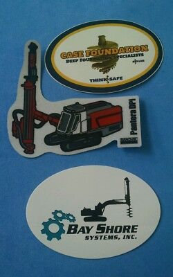 BAYSHORE CASE SANDVIK DRILLING Foundation Union Equipment Hardhat Stickers