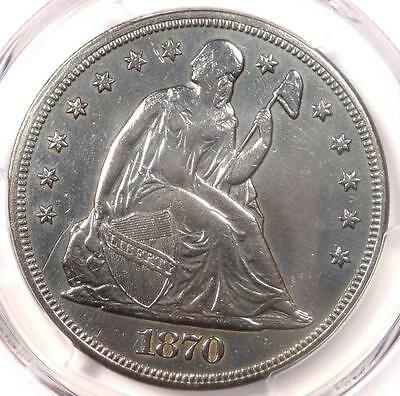 1870-CC Seated Liberty Dollar $1 - PCGS XF Details (EF) - Rare Carson City Coin!