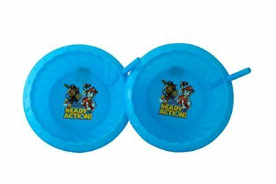 Nickelodeon Double Pack Plastic Sippie Bowls with Attached Straw and Slanted Edg