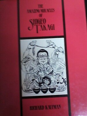 The Amazing Miracles of Shigeo Takagi Magic Book-1st Ed-Ropes-Cards-Cups & Balls