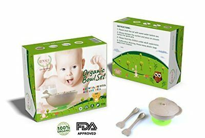 pcs Toddler Kids baby ORGANIC Dinnerware Spill Proof Stay Put Suction Bowl Inclu