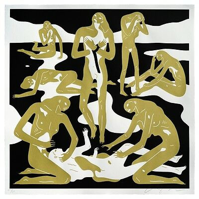 Cleon Peterson Virgins Print 39 /175 White and Gold 71.5 * 71.5 cm blanc et or
