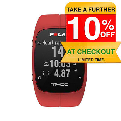 Polar M400 GPS Running Watch Tracker Red Heart Rate Sports Cardio Smartwatch