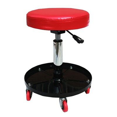 New Auto Repair Stool Adjustable Height Workshop Padded Roller Seat W/Tool Tray