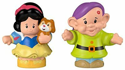 Fisher-Price Little People Disney Princess Snow White and Dopey Figures, New