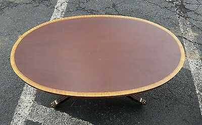 Keene Councill Oval mahogany regency style coffee cocktail table