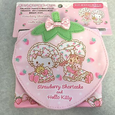 2017 NEW Sanrio STRAWBERRY SHORTCAKE and HELLO KITTY snap on pouch