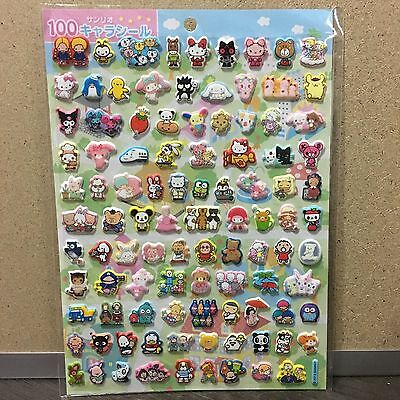 2013 NEW Sanrio 100 characters puff 3D sticker sheet collection!