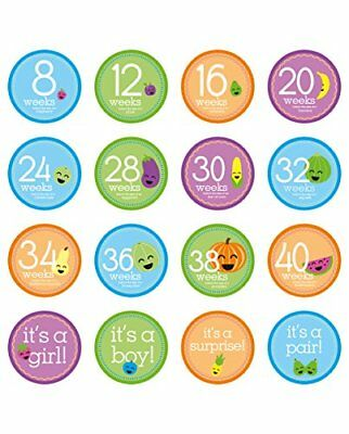 Tiny Ideas Pregnancy Milestone Photo Sharing Belly Stickers 16 Stickers Included