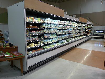 Hussmann 36' C6X Produce Dairy Deli Meat Cooler Refrigerator Grocery Case