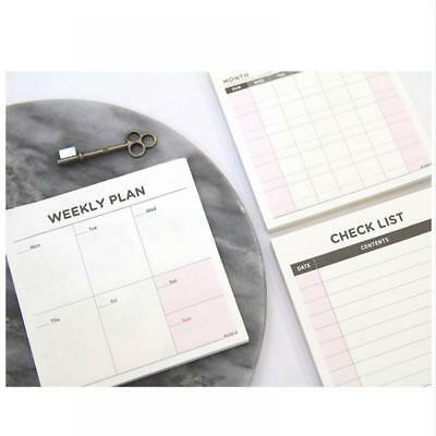 Office Plan Schedule Stick Weekly Memo Bookmark Booknote Note Pad