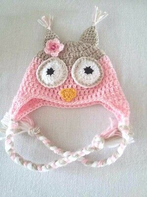 bonnet hibou fillette 0/3 mois crochet