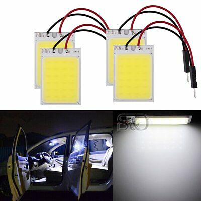 12V 1W New 24SMD LED Car Interior Panel Lights White Bulb Dome Lamp T10 COB
