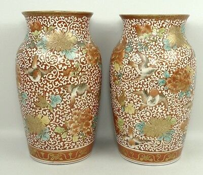 The best of Japanese Kutani. stunning and rare pair of kutani vases.Meiji Era.