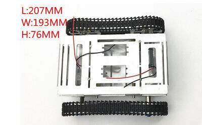 Metal Tank Chassis Model Tracked Vehicle Caterpillar for DIY Mobile Platform