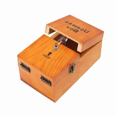 Wooden Useless Box Leave Me Alone Interesting Pastime Machine Kit Gift Toys UK