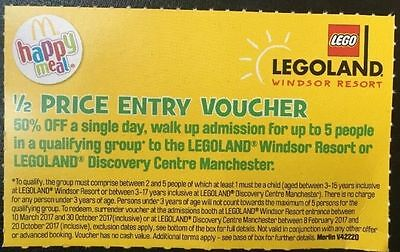 Legoland 1/2 price entry voucher for up to 5 people Discount Save 50%