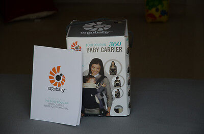 ERGOBABY 360 4 Position baby carrier/Black camel/ NEW with BOX and NSTRUCTION