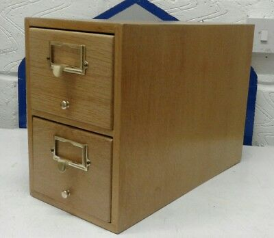 library index card drawer unit
