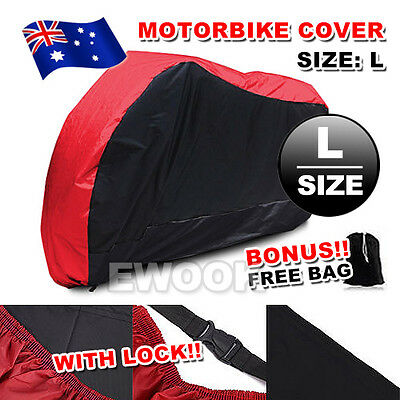 L Large Waterproof Outdoor Motorbike Motorcycle Cruiser Scooter Motor Bike Cover