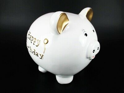 Spardose Geburtstag Happy Birthday Sparschwein 20 cm,Money Box Bank