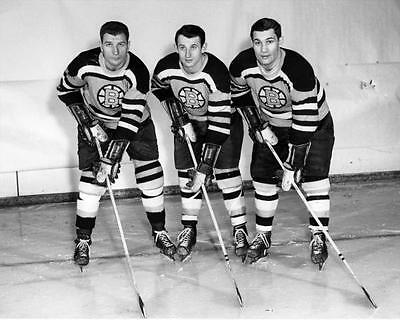 """Uke Line"" Johnny Bucyk, Vic Stasiuk Bronco Horvath Boston 8x10 Photo"