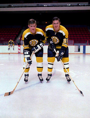 Bobby Orr and Don Awrey Boston Bruins 8x10 Photo