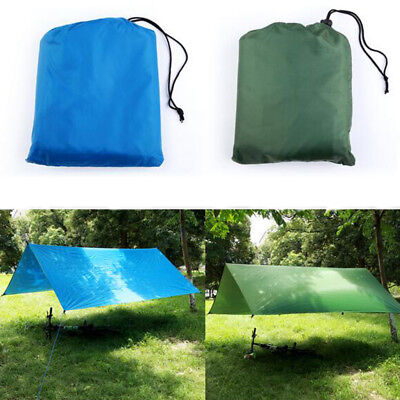 Waterproof Anti-UV Large Rain Tarp Sunshade Tent Canopy Shelter Mat Camping DY