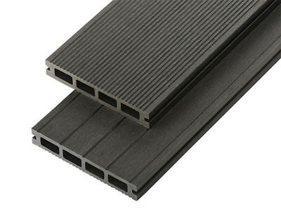 WPC Wood Composite Plastic Decking Boards 150mm x 25mm Black Brown Grey Lengths