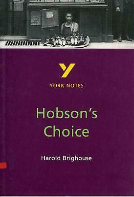 Hobson's Choice: York Notes for GCSE by Brian Dyke (English) Paperback Book Free