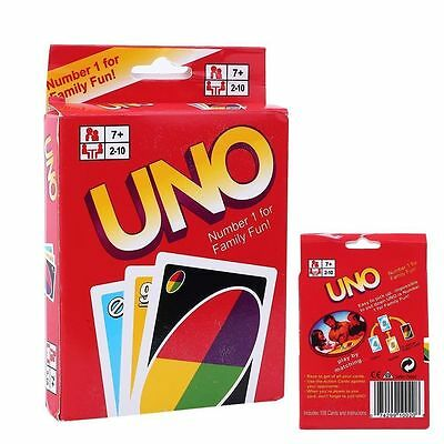 Standard Uno Card Game Family Children Friends 108 Playing Fun Cards UK