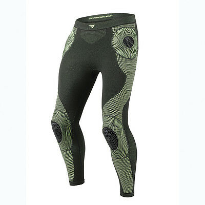 Dainese D-Core Armor LP Black / Fluo Yellow Moto Base Layer Trouser | All Sizes