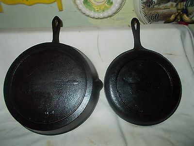 Cast Iron #7 Griddle & #8 Skillet-Matched Pair