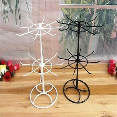 2- Tier Rotating Earring Bracelet Necklace Jewelry Display Stand Holder Rack