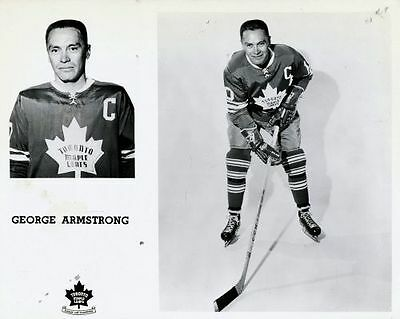 George Armstrong Toronto Maple Leafs  Unsigned 8x10 Photo