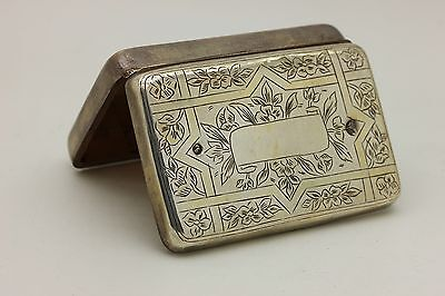 Antique Original Silver Ottoman Tugra Decorated Cigarette Case