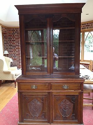 Victorian Mahogany Glazed Top Bookcase