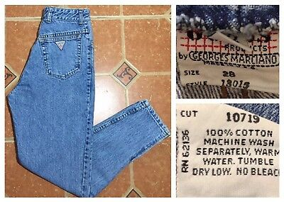 Vintage 1980s Guess by Georges Marciano High Waisted Zippered Leg Jeans Size 28