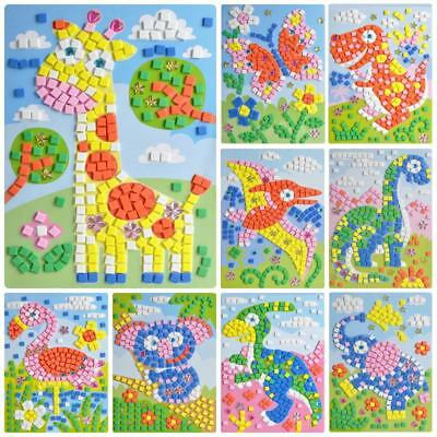3D Foam Mosaic Stickers Art Puzzle Diamond Pasted Cartoon Character Toys