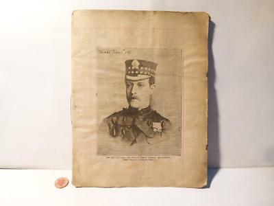 Antique c1891 THE BACCARAT CASE Sir W Gordon Cumming 9 Page Scrapbook
