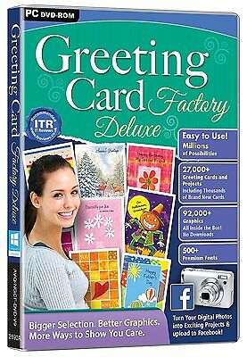 Greeting Card Factory Deluxe (PC-DVD) BRAND NEW SEALED