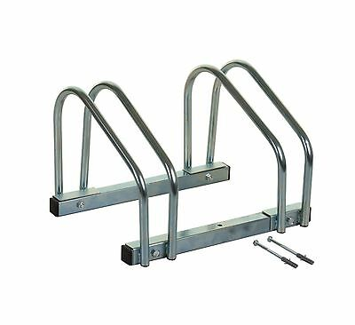 2 Slot Bike Cycle Bicycle Stand Floor Wall Mount Galvanized Parking Storage Rack