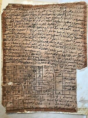 Rare Antique Handwritten In Old Arabic Magic Spell Grimoire, Middle Eastern