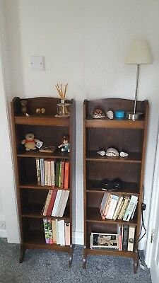 antique twin oak book cases