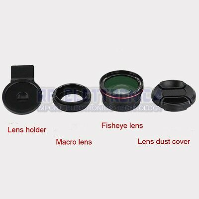 ZOMEI 2 in 1 Clip-on 0.42x Wide-angle Fisheye and Macro Lens Filter for Iphone S
