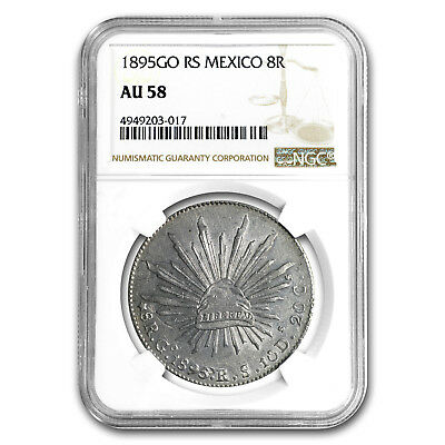 1895 Go-RS Mexico Silver 8 Reales AU-58 NGC