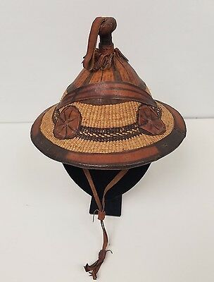 Africa Tuareg / Fulani Woven Leather Hat
